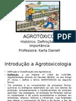 Agrotóxicos Histórico