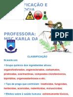 Classificação Dos Agrotoxicos