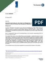20 January 2017 Standard Europe Circular Ballast Water Management Convention