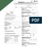 Modelo Certififcado Unico de Salud CUs
