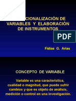 Variables e Instrumentos
