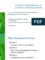 Rowan Life Cycle Analysis Tutorial PharmaHUB 9 2011