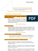 Actualites Legislatives Et Reglementaires Janvier+2010
