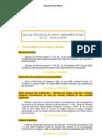 Actualites Legislatives Et Reglementaires Octobre 2008