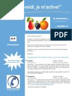 Dépliant Publicitaire Activités Mercredis PM Bloc 3 Préscolaire 2016 2017
