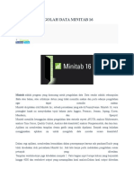 Aplikasi Pengolah Data Minitab 16