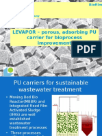 PU foam carriers for wastewater treatment