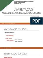 Aula 04 - Classificação Dos Solos UFERSA