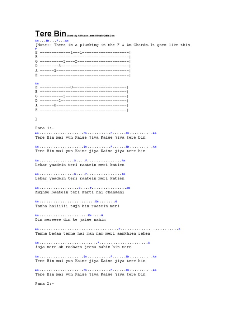 Guitar Tabs For Song Papa Kehte Hain Idea Gallery
