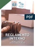 Reglamento Interno - Ministerio de la Defensa Pública del Paraguay
