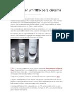 Como Fazer Um Filtro Para Cisterna