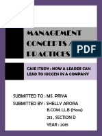 Management Concept and practices