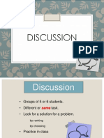 Discussion Basic Principles