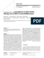 Analysis of Polymorphisms in Olive Pollen Allergy