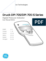 Dpi 705 Dpi 705 is Digital Pressure Indicator - Operating Manual Deutsch