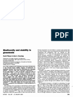 Biodiversity and stability in grasslands