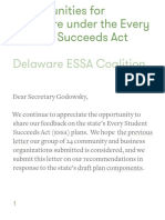 2nd Letter to Delaware Dept of Education on the Every Student Succeeds Act