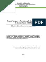 Critérios de APCN 2017 - Ciência Política e Relações Internacionais