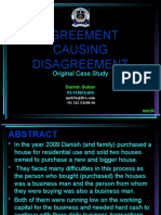 Presentation-AGREEMENT CAUSING Disagreement Conflict Management(Original Case Study Along With Analysis and Options)