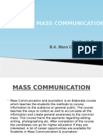 Careers in Mass Communication