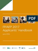 FP AFP Applicants Handbook 2017