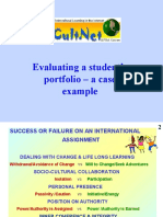 Evaluation of my 1st ePortfolio by Venla Varis at IntCultNet Project Prague Conf. in 2004; collecting milestones re. building my international PLE
