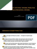 Hipotesis, Kerangka, Dan Variabel – Muthmainah, Dr., M.kes.