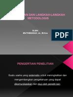 Penelitian dan Metodologinya – Muthmainah, dr., M.Kes..pptx