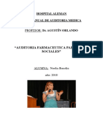 Auditoria Farmaceutica Para Obras Sociales