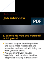 Job Interview Presentation