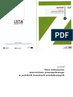 Stan wdrożenia wzornictwa przemysłowego w polskich branżach produkcyjnych - raport