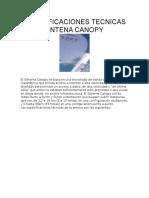 Especificaciones Tecnicas Antena Canopy