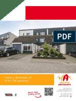 Brochure - Frans L. Blomlaan 47, Leerdam