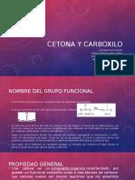 Acetona y Carboxilo