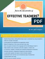 Week 3 - Prof. Aldo Rodríguez - Effective Teachers
