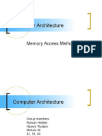 Cmp Ar. Memory Access Methods CA f
