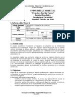 Contenido Programatico Formulacion y Evaluacion de Proyectos