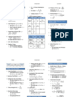 CFA Level 2, June, 2017 - Formula Sheet