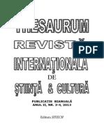 Thesaurum_anul II, Nr. 3 Si 4 Adriana Raducan.