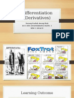 Differentiation (Derivatives)