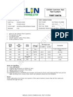 Denso Common Rail Injector Test Data
