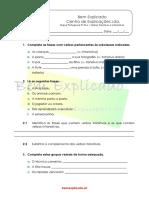 2.3 Ficha Formativa Verbos Transitivos e Intransitivos 1