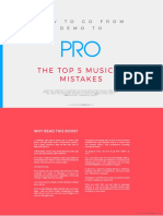 Top 5 Musical Mistakes
