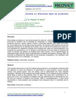 Incidencia de Salmonella en diferentes tipos de productos cárnicos