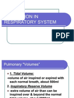 Alteration in Respiratory System