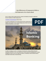 Islamic Banking - Key Differences of Components Within a Financial Statements of an Islamic Bank(1)