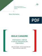 ISOLE CANARIE Informazioni Di Base
