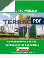 APOSTILA TERRACAP 2017 CONTADOR + VÍDEO AULAS