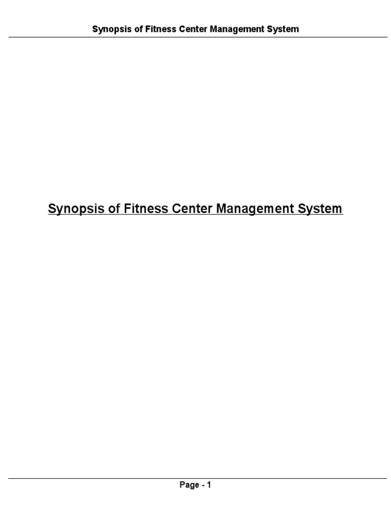 Synopsis of fitness center management system modelviewcontroller synopsis of fitness center management system modelviewcontroller databases ccuart Gallery