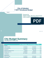 Hoboken 2017 Municipal Budget Intro Presentation
